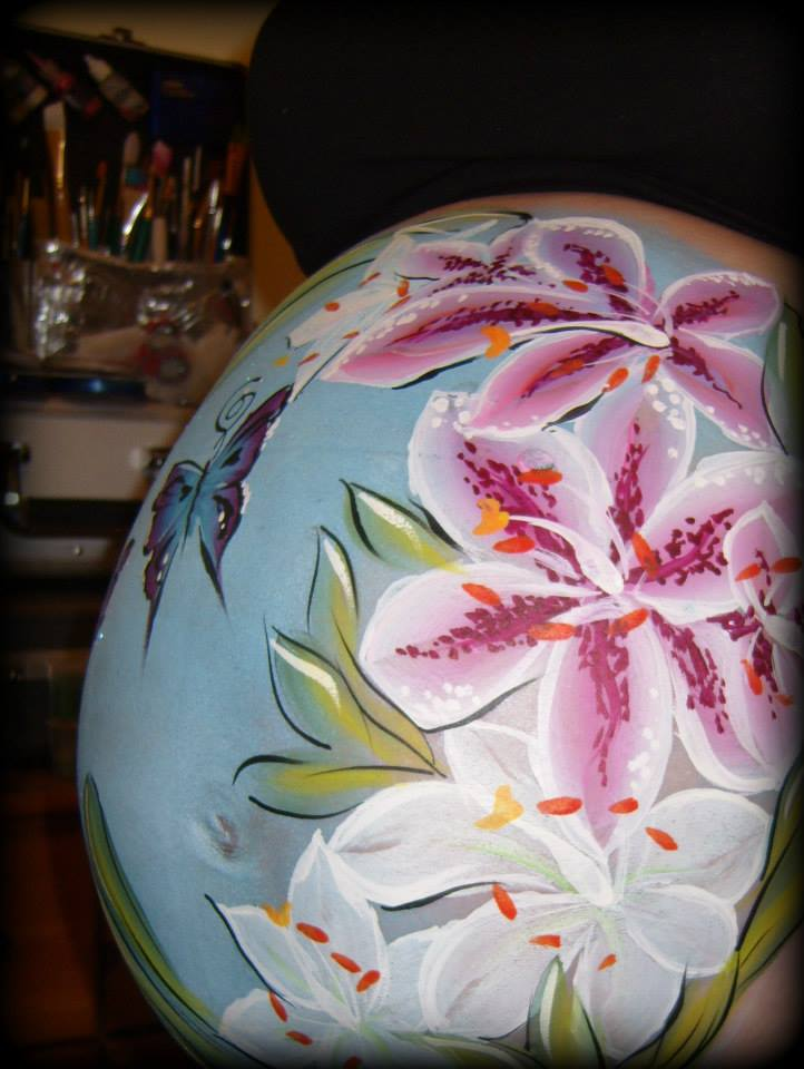 JuliaArts Baby Bump, Body Painting, Gestational art, Brighton and Hove