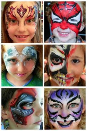 Children's Face Painting by JuliaArts Barnsleyboy aged 4